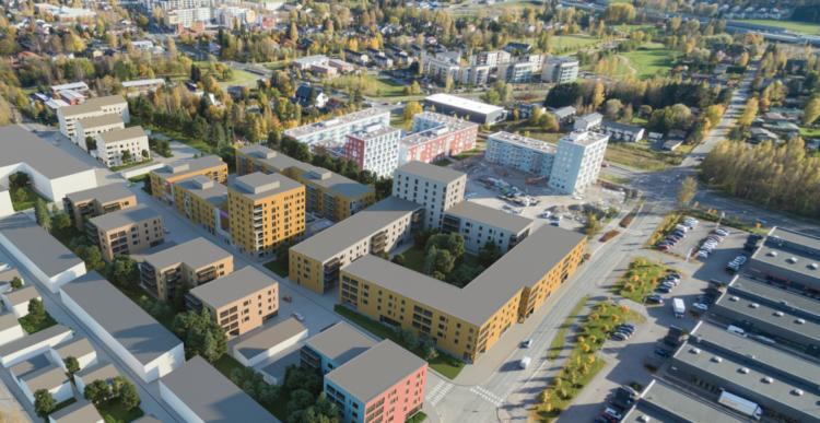 19.1.2016 Uudet asuntokohteet Vantaan Koivuhakaan myyntiin helmikuussa